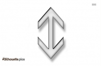 Double Sided Arrow Silhouette Icon