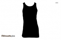 Black And White Vest Shirt Silhouette