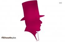 Victorian Era Man Silhouette, Victorian Hat Clipart