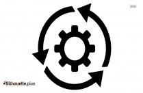 Video Transcoding Icon Silhouette