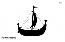 Viking Boat Silhouette Image