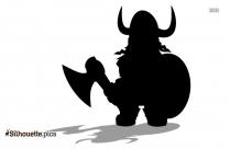Viking Warrior Silhouette Art