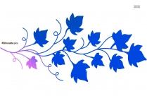Vine Leaf Silhouette Illustration Image