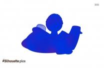 Cartoon Guy Flying Clip Art Silhouette