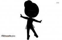 Jumping Ballerina Silhouette