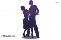 Tango Dancers Silhouette Art