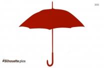Vintage Beach Umbrella Silhouette Illustration