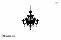 Vintage Ceiling Glass Lantern Hanging Vector Silhouette