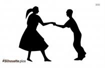 Vintage Dancing Couple Silhouette Image