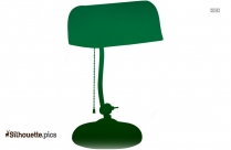 Vintage Desk Lamp Silhouette Illustration