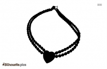 Necklace Silhouette Clipart