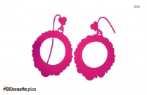 Black Hoop Earring Symbol Silhouette