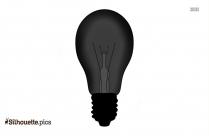 Vintage Light Bulb Silhouette