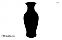 Vintage Pottery Vases Silhouette Drawing