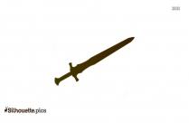 Cross Swords Logo Silhouette Clipart