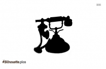 Vintage Telephone Clip Art Silhouette