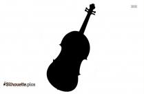 Black And White Violin Silhouette