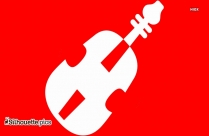 Simple Violin Outline Drawing Clip Art