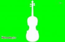 Crossed Violins Outline Drawing