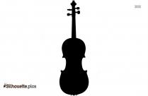 Black Violin Silhouette Image