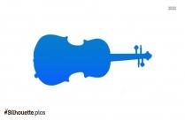 Violin Vector Silhouette Clip Art