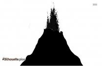 Volcano Silhouette Landscape