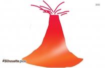 Volcano Silhouette Sketch
