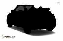 Antique Volkswagen Beetle Car Silhouette Clip Art