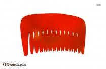 Volumizing Comb Silhouette Clipart