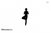 Yoga Tree Pose Silhouette Clip Art