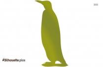 Cute Penguin Silhouette Illustration