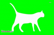 Cute Cat Silhouette Image And Vector