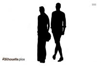 Walking Couple Silhouette Image Free Download