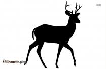 Dancing Reindeer Silhouette