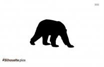 Panda Cub Silhouette Background