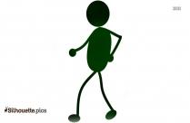 Stick Figure Kids Silhouette, Stick Friends Drawing
