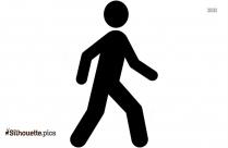 Walking Stick Man Clip Art Silhouette Image