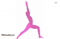 Half Bow Pose Symbol Silhouette