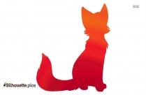 Cute Kitten Logo Silhouette For Download