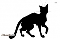 Free Warrior Cat Drawing Silhouette