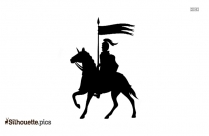 White Horse Jumping Silhouette