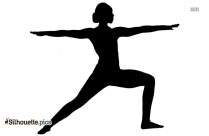 Warrior 2 Pose Silhouette Icon