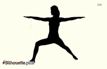 Warrior II Yoga Pose - Yoga Silhouette