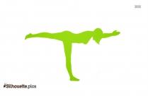 Heron Yoga Pose Silhouette