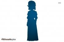 Warrior Princess Art Silhouette Image