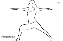 Warrior Two Pose Yoga Silhouette Art