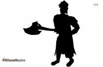 Warrior With Axe Silhouette