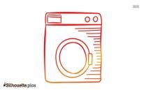 Washing Machine Silhouette Clipart Cartoon
