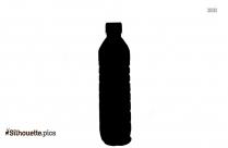Water Bottle Silhouette Vector Art