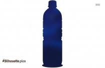 Bottle Of Wine Vector Silhouette